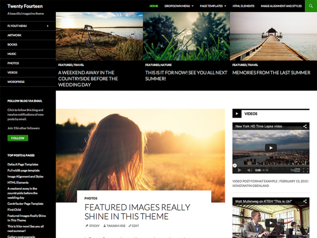 wordpress theme responsive