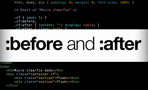 CSS before and after