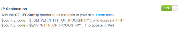 Get Country IP address - geolocation Cloudflare