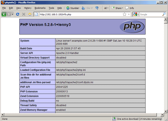 install php 5.3 mysql and apache
