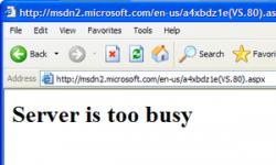 Server is busy error